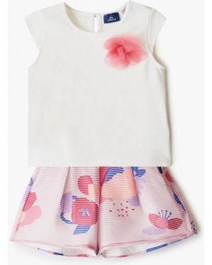 Пиджак белый розовый Chicco