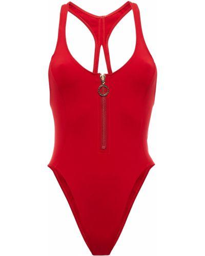 Красный купальник с вырезом стрейч Stella Mccartney