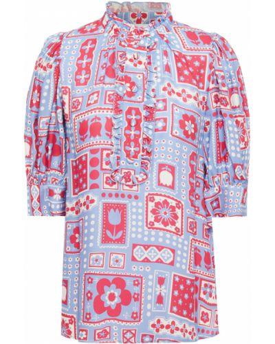 Niebieska bluzka z wiskozy Antik Batik