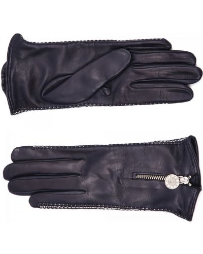 Синие кожаные перчатки Principe Di Bologna