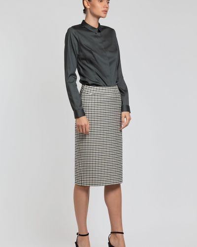 Блузка приталенная зеленый Vassa&co