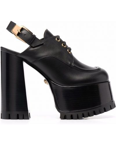 Мюли на каблуке - черные Versace