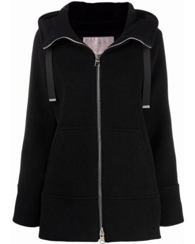 Черная куртка двусторонняя на молнии с капюшоном Herno