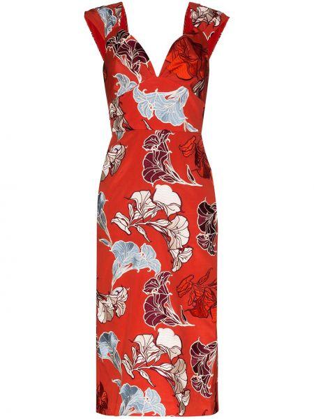 Платье мини с цветочным принтом на молнии Johanna Ortiz