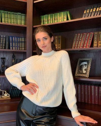 Зеленый шерстяной вязаный свитер Vovk