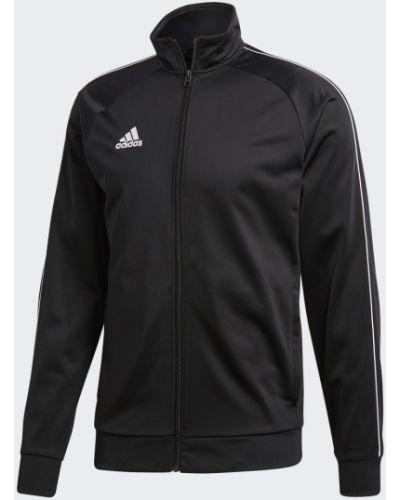 Футбольная черная куртка Adidas