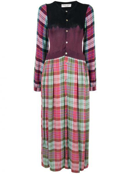 Платье с рукавами в рубчик винтажное на пуговицах с вырезом Comme Des Garçons Pre-owned