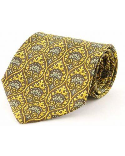 Krawat z jedwabiu - żółty Dior Vintage