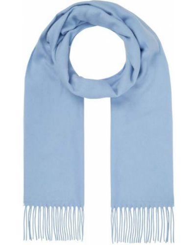 Ciepła niebieska szal z frędzlami Fraas