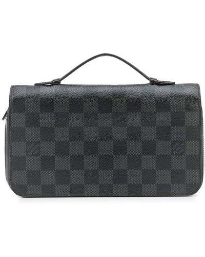 Czarny portfel srebrny Louis Vuitton