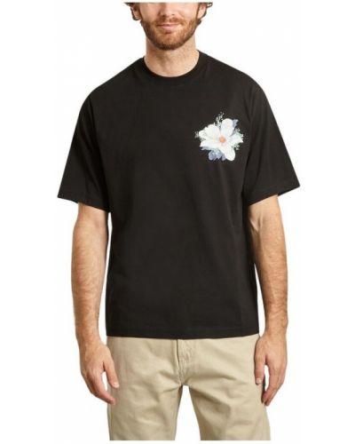 Czarny t-shirt bawełniany oversize Kenzo