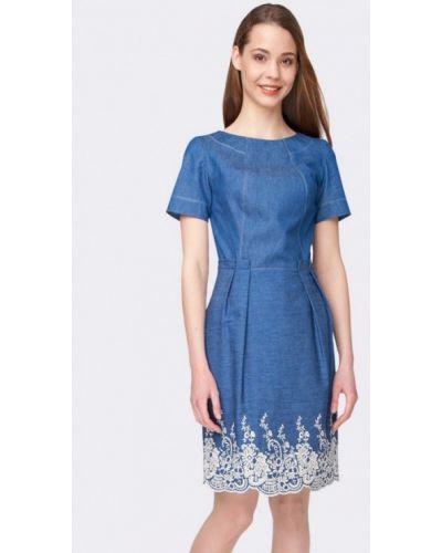 Джинсовое платье весеннее синее Cat Orange