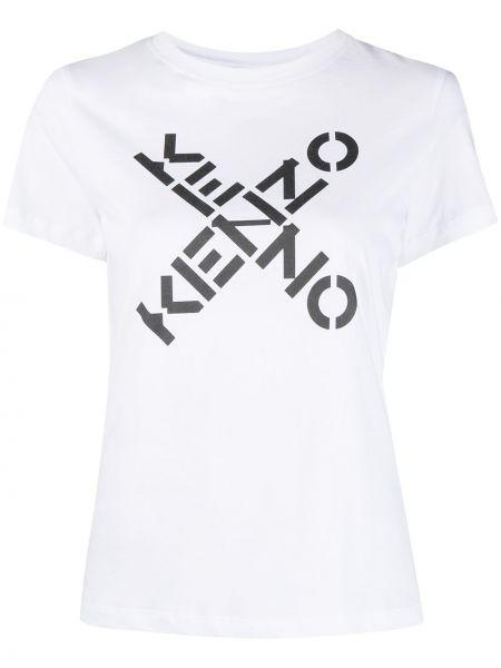 Трикотажная белая футболка с короткими рукавами Kenzo
