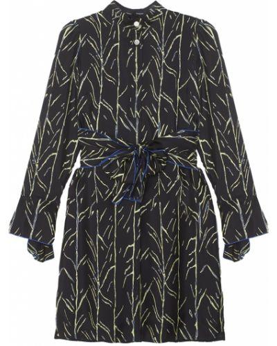 Платье с поясом с абстрактным принтом шелковое Proenza Schouler