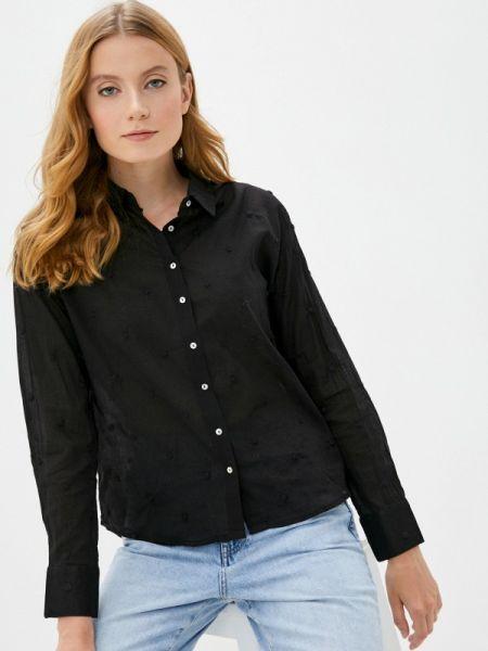 Черная рубашка с длинными рукавами Pimkie