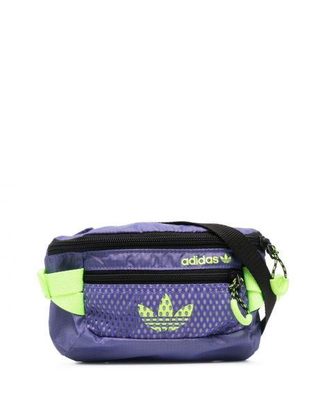 Zielony pasek z paskiem z haftem Adidas