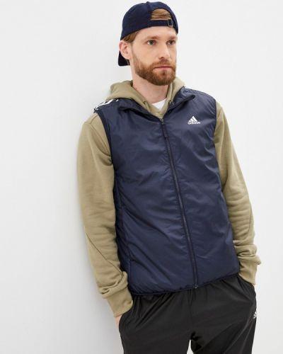 Синяя жилет утепленный Adidas