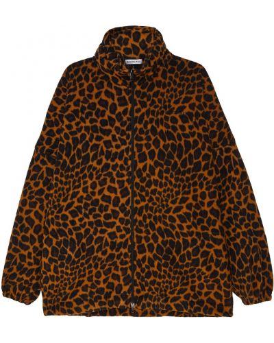 Куртка леопардовая на резинке Balenciaga