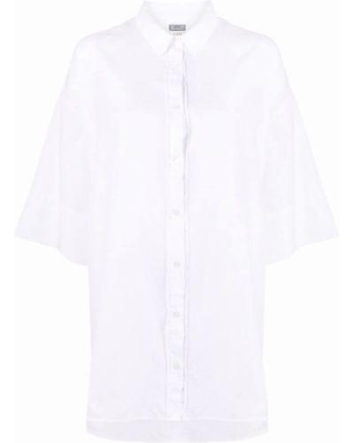 Хлопковая белая классическая рубашка оверсайз Kristensen Du Nord