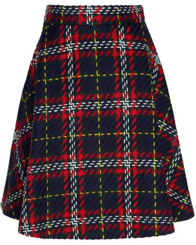 Юбка шотландка юбка-колокол Miu Miu