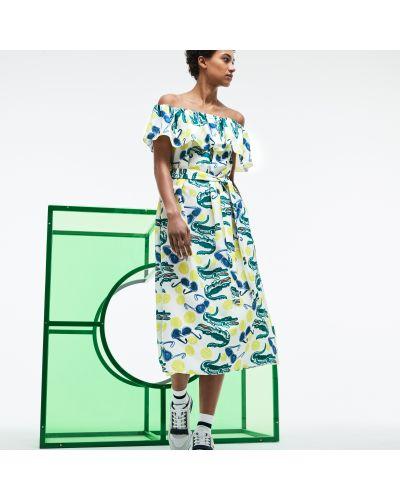 Платье с поясом синее французский Lacoste