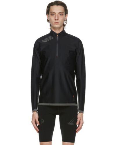 Черный длинный свитер с воротником с длинными рукавами Soar Running