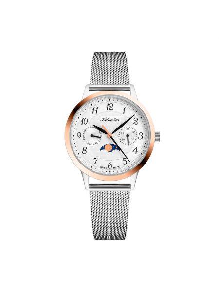 Różowy zegarek srebrny Adriatica