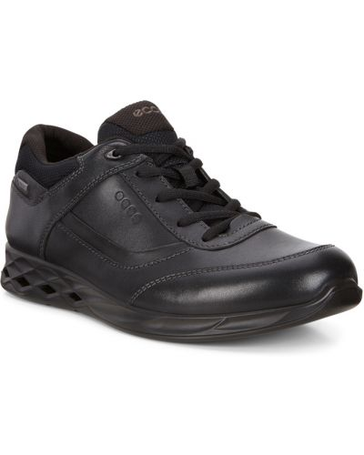 Кроссовки черные коричневый Ecco