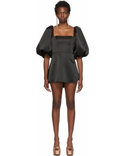 Czarna satynowa sukienka mini Wandering