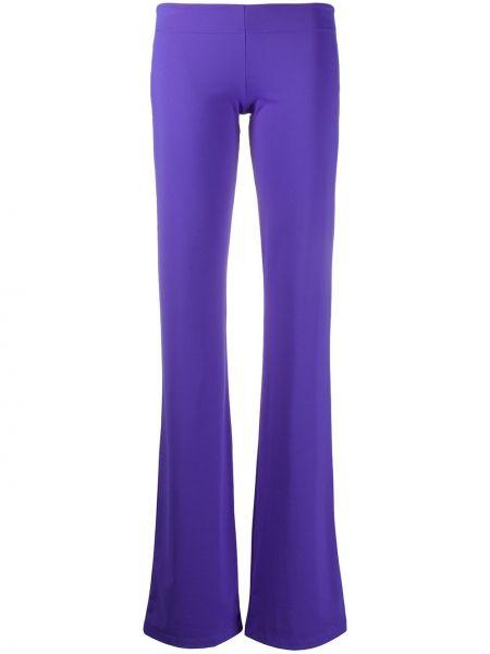 Расклешенные фиолетовые леггинсы эластичные Fisico