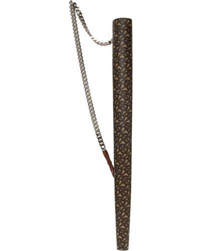 Parasol srebrny - brązowy Burberry
