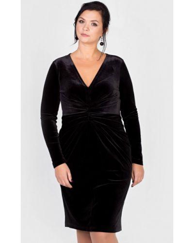 Платье мини осеннее черное Filigrana
