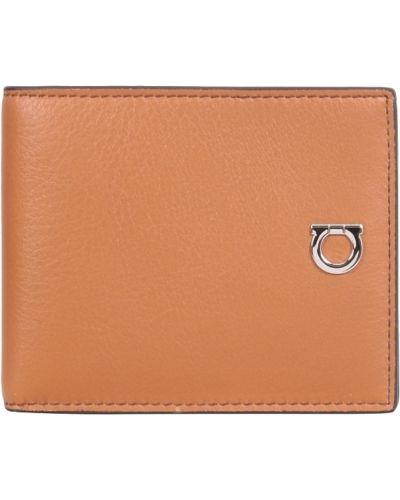 Brązowy portfel Salvatore Ferragamo