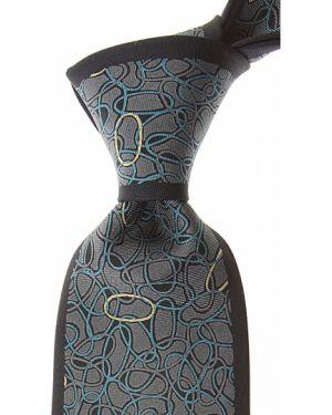 Szary krawat z jedwabiu Mila Schon