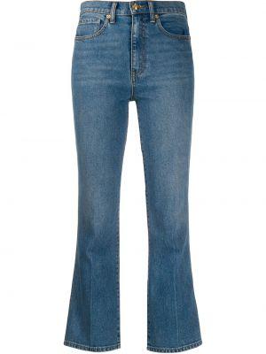 Укороченные джинсы свободные расклешенные Tory Burch