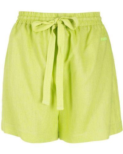 Зеленые шорты с вышивкой Nk
