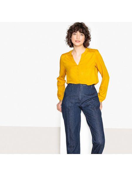 Блузка с длинным рукавом прямая с вырезом Only