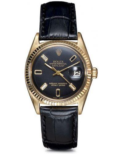 Золотистые кожаные желтые часы с бриллиантом Lizzie Mandler Fine Jewelry