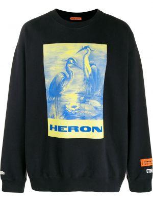 Толстовка длинная - черная Heron Preston