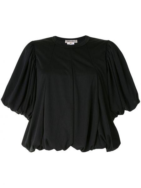 Черный топ с вырезом с короткими рукавами Comme Des Garçons