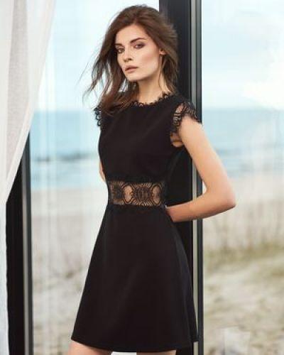 Платье из вискозы с декоративной отделкой Love Republic