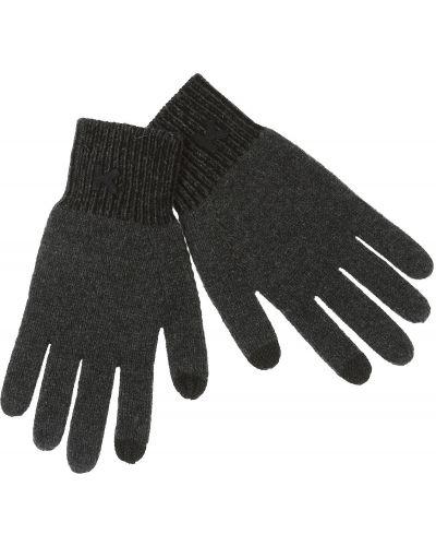 Prążkowane czarne rękawiczki bawełniane Kenzo