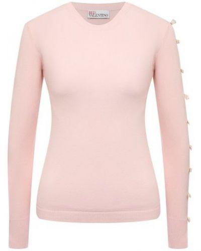 Розовый трикотажный пуловер Redvalentino