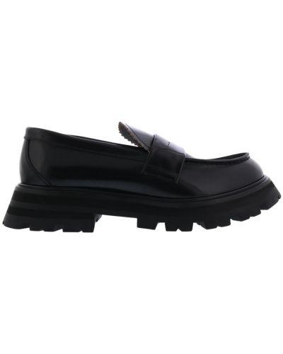 Loafers - czarne Alexander Mcqueen