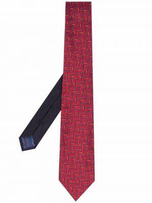 Żółty krawat z jedwabiu w szpic Missoni