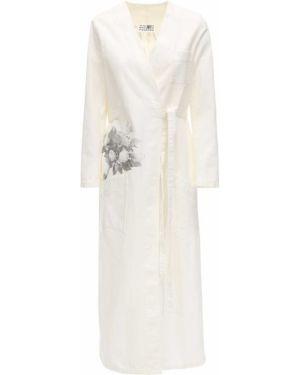 Платье макси с завышенной талией восточное Mm6 Maison Margiela