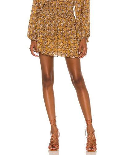 Pomarańczowa spódnica w paski Minkpink