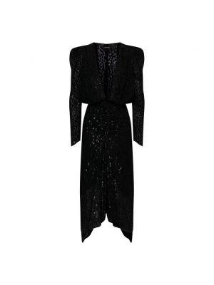 Шелковое платье - черное Isabel Marant