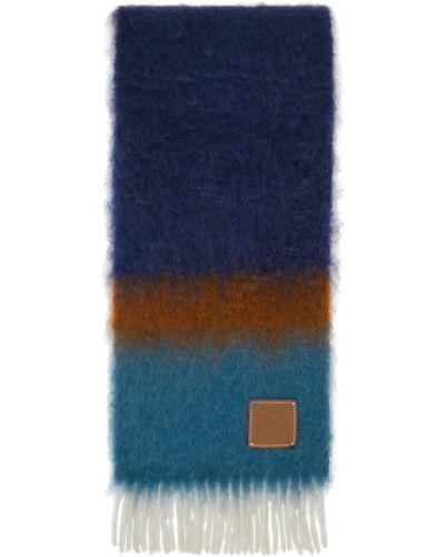 Шерстяной белый шарф с заплатками Loewe