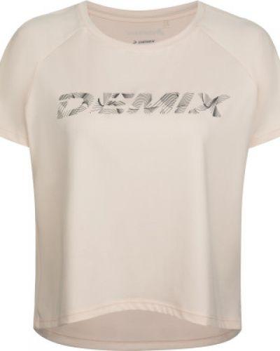 Розовая прямая спортивная футболка для фитнеса Demix